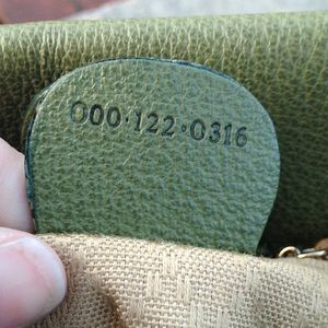 Gucci Bags - Gucci Vintage Bamboo Suede Moss Green 2 way Purse